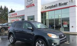Make Toyota Model RAV4 Year 2008 Colour Black kms 211242 Price: $9,995 Stock Number: 30870 VIN: JTMBK32V285048627 Interior Colour: Charcoal Engine: V-6 cyl Fuel: Regular Unleaded Welcome to Campbell River Toyota! We do things differently here; our