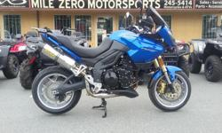 Mint Condition, 32k kms, New tires, Arrow Exhaust, Rear rack, Touring Screen, Trades Welcome Financing available at http://www.themilezero.com/pages/financing Mile Zero Motorsports 3-13136 Thomas Rd Ladysmith B.C. Everything Starts Here!!!