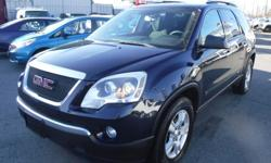 Make GMC Model Acadia Year 2009 Colour Blue kms 161818 Trans Automatic Stock #: BC0030831 VIN: 1GKEV13D59J195181 2009 GMC Acadia SLE-1 AWD 3rd Row Seating, 3.6L, 6 cylinder, 4 door, automatic, AWD, 4-Wheel ABS, cruise control, air conditioning, AM/FM