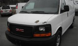 Make GMC Model Savana Year 2009 Colour White kms 140157 Price: $13,650 Stock Number: BC0027805 Interior Colour: Grey Cylinders: 8 Fuel: Gasoline 2009 GMC Savana G2500 Cargo Van with Roof Rack, 4.8L, 8 cylinder, automatic,bulkhead partition, rear shelves,