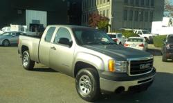 Make GMC Model Sierra 1500 Year 2009 Colour Gray kms 165049 Trans Automatic Stock #: BC0030434 VIN: 1GTEC19XX9Z170667 2009 GMC Sierra 1500 Work Truck Ext. Cab Short Box 2WD, 4.3L, 8 cylinder, 4 door, automatic, RWD, 4-Wheel ABS, air conditioning, AM/FM