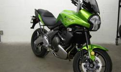Come check out this rare gem! Offered up by Kawasaki is this sparkling emerald/gold hued Versys 650. This motorcycle is ready to take on any street situation and turn it into a fun ride! All it takes is one ride to confirm that the Versys is at the top of