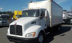 Year 2009 Colour White Trans Automatic kms 275855 Stock #: BC0029959 VIN: 2NKHHM5HX9M938300 2009 Kenworth T300 18 Foot Cube Van with Power Tailgate Diesel, 6.7L, 6 cylinder, 2 door, automatic, RWD, AM/FM radio, CD player, power door locks, power windows,