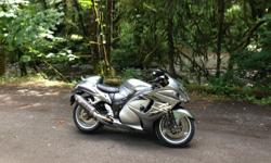 43000 kms, clean condition, no accidents, mature owner. Helibar risers, Yoshimura R-77 4-into-1 exhaust, Power Commander V, recent Metzeler M7RR tires, frame sliders. Have the passenger seat, stock bars. Time for me to slow down, priced for a Busa-quick