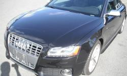 Make Audi Model S5 Year 2010 Colour Black kms 128903 Price: $24,480 Stock Number: BC0027564 Interior Colour: Black Cylinders: 8 Fuel: Gasoline 2010 Audi S5 4.2 Coupe quattro Tiptronic, 4.2L, 8 cylinder, 2 door, automatic, AWD, 4-Wheel ABS, cruise control,