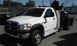 Make Dodge Model Ram Year 2010 Colour White kms 89283 Price: $28,700 Stock Number: BC0027826 Interior Colour: Grey Fuel: Diesel 2010 Dodge Ram 5500 SLT, 6.7L, 8 cylinder, 2 door, automatic, 4WD, cruise control, air conditioning, AM/FM radio, CD player,