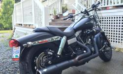 Must Sell! Low miles (4000 km) Flat Black Perfect condition Stage 1 upgrade kit Screaming eagle programable ignition Hi flow intake and Vance and Hines exhaust Detachable windscreen Service manual and gear included..