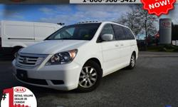 """Make Honda Model Odyssey Year 2010 Colour White Trans Automatic We are Canada's #1 KIA Retail Volume Dealer. Our volume purchasing power saves you money! Our motto """"we can replace vehicles, we cannot replace our customers!"""" is the reason we sell more new"""