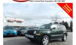 Trans Automatic This 2010 Jeep Patriot Limited comes with alloy wheels, fog lights, tinted rear windows, roof rack, running boards, power locks/windows/mirrors, leather interior, sunroof, Bluetooth, dual control heated seats, SIRIUS radio, CD player,