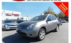 Trans Automatic 2010 Nissan Rogue SL with alloy wheels, roof rack, tinted rear windows, power locks/windows/mirrors, dual control heated seats, A/C, CD player, AM/FM stereo, rear defrost and so much more! STK # 69240A DEALER #31228 Need to finance? Not a