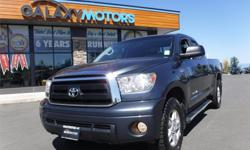 Make Toyota Model Tundra Year 2010 Colour Blue kms 97332 Trans Automatic Price: $28,995 Stock Number: J20466 Interior Colour: Black Engine: 5.7L DOHC SMPI 32-valve i-Force V8 engine -inc: du Cylinders: 8 Fuel: Gasoline Galaxy Motors is the #1 used car