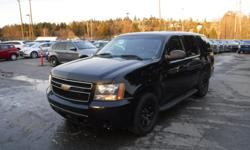 Make Chevrolet Model Tahoe Year 2011 Colour Black kms 183960 Trans Automatic Stock #: BC0030813 VIN: 1GNLC2E05BR293991 2011 Chevrolet Tahoe Police, 5.3L, 8 cylinder, 4 door, automatic, RWD, cruise control, air conditioning, AM/FM radio, CD player, power