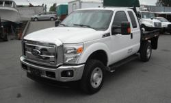 Make Ford Model F-350 Year 2011 Colour White kms 202469 Trans Automatic Stock #: BC0027534 VIN: 1FT8X3B68BEC22549 2011 Ford F-350 SD XLT SuperCab Flatdeck 4WD, 6.2L, 8 cylinder, 4 door, automatic, 4WD, 4-Wheel ABS, cruise control, air conditioning, AM/FM