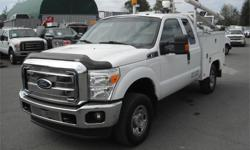 Make Ford Model F-350 SD Year 2011 Colour White kms 172552 Price: $23,840 Stock Number: BC0027738 Interior Colour: Grey Cylinders: 8 Fuel: Gasoline 2011 Ford F-350 SD XLT SuperCab Service Truck 4WD, 6.2L, 8 cylinder, 4 door, automatic, 4WD, 4-Wheel ABS,