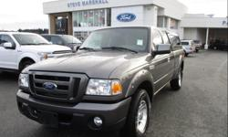 Make Ford Model Ranger Year 2011 Colour Dark Shadow Grey Metallic kms 98945 Trans Automatic Price: $15,993 Stock Number: 94160 VIN: 1FTKR4EE0BPA60266 Interior Colour: Black Engine: 4.0L V6 Cylinder Engine 6 foot lined box with matching canopy and a spare