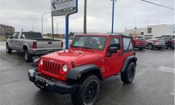 Make Jeep Model Wrangler Year 2011 Colour Red kms 62000 Trans Manual Price: $19,913 Stock Number: 2701 VIN: 1J4AA2D12BL620313 Interior Colour: Black Engine: 3.8L V6 Engine Configuration: V-shape Cylinders: 6 Fuel: Regular Unleaded BC VEHICLE! SOFT TOP! 6