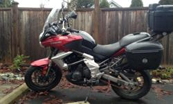 2011 Kawasaki Versys 650 for sale. 16500 kilometres. I've had the bike since new. Great bike has hand warmers, Givi 20 litre side bags. Kappa 45 litre top case. Hand guards if you want them. I've never had any problems with this bike. Good on fuel and