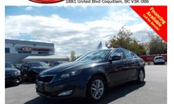 Trans Automatic 2011 Kia Optima LX with alloy wheels, fog lights, dual exhaust, power locks/windows/mirrors/seats, steering wheel media controls, Bluetooth, dual control heated seats, A/C, CD player, SIRIUS radio, AM/FM stereo, rear defrost and so much