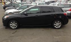 Make Mazda Model MAZDA3 Year 2011 Colour Black kms 89874 Trans Manual 2011 MAZDA 3 GS, HATCHBACK, SUNROOF, LEATHER, HEATED SEATS, POWER LOCKS WINDOWS AND MIRRORS, AIR CONDITIONING, COMES WITH SAFETY REPORT CARPROOF AND WARRANTY, CALL OR TEXT PHIL