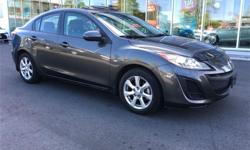 Make Mazda Model MAZDA3 Year 2011 Colour Grey kms 32208 Trans Automatic Price: $13,995 Stock Number: T0691A Engine: 2 Cylinders: 4 Fuel: Gasoline
