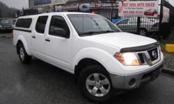 Make Nissan Model Frontier Year 2011 Colour WHITE kms 173000 Trans Automatic SPECIAL SALE FOR CHRISTMAS! RELIABLE, AFFORDABLE AND ERGONOMIC WHITE ON GREY, 4.0L 6CYL GASOLINE FUEL, GREAT ON GAS 5 PASSENGER, CLOTH SEATS, DRIVE TRAIN - FOUR WHEEL DRIVE, NEW