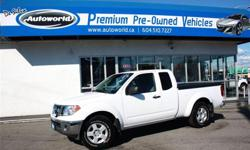 Make Nissan Model Frontier Year 2011 Colour White kms 98102 Trans Automatic 2011 Nissan Frontier S Extended Cab 2WD Local Vehicle, Extended Cab, 2.4L, 5 Speed Automatic, 2WD, 16 Inch Wheels, Spray In Bed Liner, Tonneau Cover, Air Conditioning, Cruise