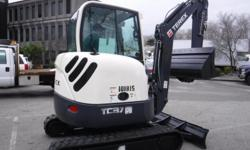 Year 2011 Colour White kms 878 Stock #: BC0030812 VIN: 0000000TC00370775 2011 Terex TC37 Mini Excavator Diesel, 4 cylinder, white exterior, black interior, vinyl. Transport weight (incl. bucket) is 7,870 lbs (3,570 kg). (Vehicle is currently OFFSITE and