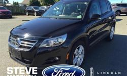 Make Volkswagen Model Tiguan Year 2011 Colour Black kms 119820 Price: $16,995 Stock Number: 89011 Interior Colour: Black Engine: 4 Cylinder Engine A great starter vehicle for somebody! This all weather AWD goes anywhere! The Steve Marshall Ford Lincoln