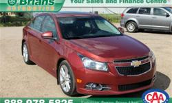 Make Chevrolet Model Cruze Year 2012 Colour Bronze kms 82616 Trans Automatic Price: $10,995 Stock Number: 6836A Interior Colour: Grey Engine: 1.4L 4 cyls Cylinders: 4 Fuel: Gasoline INTERESTED? TEXT 3062016848 WITH 6836A FOR MORE INFORMATION! $10995 -