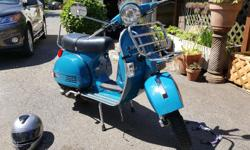 Probably the most fun you can have on two wheels! Has the vintage/retro style of a Vespa P- series, but with modern amenities and reliability. All steel body, gets tons of looks! 2012 model 150cc 4 stroke. 4 speed manual twist shift transmission. Only