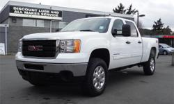 Make GMC Model Sierra 3500 Year 2012 Colour White kms 39745 Trans Automatic Price: $32,995 Stock Number: M19298 Interior Colour: Black Cylinders: 8 Fuel: Flex Fuel Accident Free, BC Only, NEW Tires, NEW Battery, OnStar, Steering Wheel Controls, Boxliner,