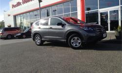 Make Honda Model CR-V Year 2012 Colour Grey kms 40000 Trans Automatic Price: $22,000 Stock Number: 3592A Fuel: Gasoline Smart Purchase Pricing - priced to sell immediately. Although reasonable effort is made to ensure the accuracy of the information