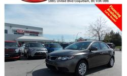 Trans Automatic 2012 Kia Forte 2.0L LX has power locks/windows/mirrors, steering wheel media controls, Bluetooth, A/C, CD player, AM/FM stereo, USB connection and so much more! STK # 69145A DEALER #31228 Need to finance? Not a problem. We finance anyone!
