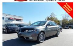 Trans Automatic 2012 Kia Forte SX 2.4L with alloy wheels, fog lights, leather interior, steering wheel media controls, Bluetooth, power locks/windows/mirrors, dual control heated seats, sunroof, A/C, CD player, AM/FM stereo, rear defrost and so much
