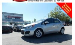 Trans Automatic 2012 Kia Rio LX has steering wheel media controls, power locks/windows/mirrors, A/C, CD player, AM/FM stereo and so much more! STK # 66044A DEALER #31228 Need to finance? Not a problem. We finance anyone! Good credit, Bad credit, No