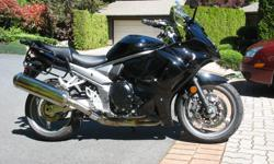 "2012 Suzuki GSX 1250 FA with ABS, in excellent condition at 12,000 km, recently new Michelin Pilot Road 4 tires. Accessories included & valued at aver $900 are: Madstad 20"" height & angle adjustable windscreen, SW Motech bar risers, !"" mirror extenders"
