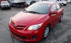 Make Toyota Model Corolla Year 2012 Colour Red kms 127938 Trans Automatic Stock #: BC0030738 VIN: 2T1BU4EEXCC827202 2012 Toyota Corolla Sedan, 1.8L, 4 cylinder, 4 door, automatic, FWD, 4-Wheel ABS, cruise control, air conditioning, AM/FM radio, CD player,