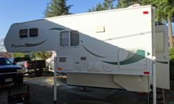 2012 Westland Truck Camper 8.0ft., sleeps 3, Queen Bed (north/south), 2-way fan over bed, toilet with exhaust fan, outside shower, propane heater & hot water, 2-way fridge, 3 burner stove, kitchen sink, 2 propane tanks, dual 12v deep cycle batteries, 58L