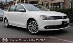 Make Volkswagen Model Jetta Sedan Year 2012 Colour White kms 51420 Trans Automatic Price: $19,990 Stock Number: 5-V041B Interior Colour: Black Cylinders: 4 **LOCALLY OWNED**LOW KM**GREAT ON GAS**This 2012 VW Jetta TDI Highline is not your average