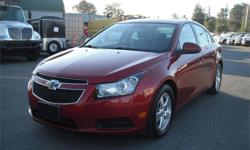Make Chevrolet Model Cruze Year 2013 Colour Red kms 114525 Price: $10,860 Stock Number: BC0027830 Interior Colour: Black Cylinders: 4 Fuel: Gasoline 2013 Chevrolet Cruze 2LT, 1.4L, 4 cylinder, 4 door, automatic, FWD, 4-Wheel ABS, cruise control, air