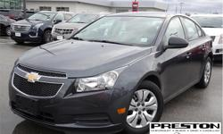 Make Chevrolet Model Cruze Year 2013 Colour Grey kms 37625 Trans Automatic Price: $11,995 Stock Number: 9004021 VIN: 1G1PL5SH1D7127657 Interior Colour: Grey Local, sold and serviced at Preston GM, extra clean in and out, well kept by the owner, equipped