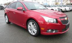 Make Chevrolet Model Cruze Year 2013 Colour RED kms 41772 Trans Automatic 2013 CHEVROLET CRUZE LTZ/RS Price $ 15988 * Stock # 5F1E55470B Exterior Colour: RED Odometer: 41772 4-Cylinder Engine Front Wheel Drive Anti-Lock Braking System Rear Air