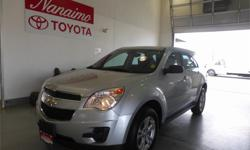 Make Chevrolet Model Equinox Year 2013 Colour Silver kms 47100 Price: $19,995 Stock Number: 16833A Interior Colour: Black Cylinders: 4 One ownerCall us toll-free at 1 877 295-1367 Dealer Number 10407