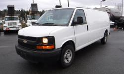 Make Chevrolet Model Express Year 2013 Colour White kms 96265 Trans Automatic Stock #: BC0030817 VIN: 1GCWGGBA9D1142576 2013 Chevrolet Express 2500 Extended Cargo Van with Bulkhead Divider, 4.8L, 8 cylinder, 3 door, automatic, RWD, 4-Wheel AB, cruise