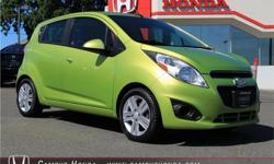 Make Chevrolet Model Spark Year 2013 Colour Green kms 60000 Trans Automatic Price: $9,499 Stock Number: J0138 Interior Colour: Black Cloth Cylinders: 4 Two Owner, 4 Speed Automatic Transmission, 5 door Hatchback, Super Clean Fabric Interior, Great Fuel