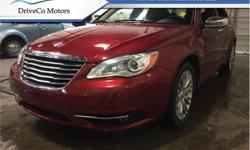 Make Chrysler Model 200 Year 2013 Colour Red kms 62837 Trans Automatic Price: $11,900 Stock Number: UC8891 VIN: 1C3CCBCG1DN608891 Engine: 3.6L V6 Cylinder Engine Fuel: Gasoline This midsize Chrysler 200 sedan's engine is quiet and delivers a