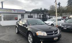 Make Dodge Model Avenger Year 2013 Colour Black kms 85000 Trans Automatic Popular, efficient and sporty! The 2013 Dodge Avenger is the perfect mix of space and style. Check it out HERE at Colwood Car Mart! We finance! 2 paystubs and you're approved!