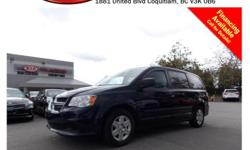 Trans Automatic 2013 Dodge Grand Caravan SE/SXT with tinted rear windows, leather interior, steering wheel media controls, power locks/windows/mirrors, A/C, separate temperature controls, CD player, AM/FM stereo, rear defrost and so much more! STK #
