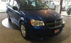 Make Dodge Model Grand Caravan Year 2013 Colour Blue kms 89746 Trans Automatic Price: $17,500 Stock Number: 18148A VIN: 2C4RDGBG3DR761695 Interior Colour: Black Engine: 3.6L V6 VVT Fuel: Gasoline Auxiliary input. Seats 7. Stow and go seats. Power windows.