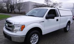 Make Ford Model F-150 Year 2013 Colour White kms 141399 Trans Automatic Stock #: BC0030720 VIN: 1FTPF1CF2DKF44349 2013 Ford F-150 XLT long Box 2WD with Canopy, 5.0L, 2 door, automatic, RWD, 4-Wheel ABS, cruise control, AM/FM radio, CD player, power door